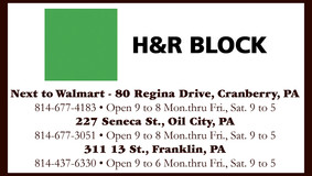 H & R Block - Cranberry - Oil City - Franklin