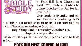 Park Hill First Church of God - Ladies Bible Study