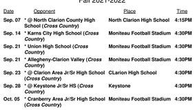 Moniteau H.S. Varsity Cross Country Schedule