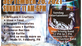 Annual Foxburg Fall Art, Wine & Food Festival -  Sept. 26th