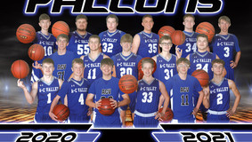 2021 A-C Valley Falcon Boys Basketball Team Roster