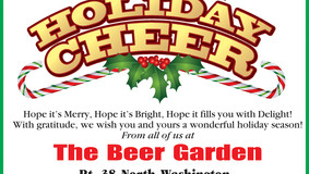 Beer Garden Sports Bar & Grille - Greetings of Holiday Cheer
