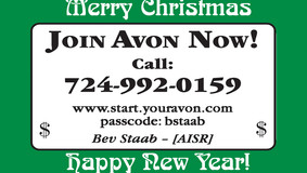 AVON - Merry Christmas, from Bev