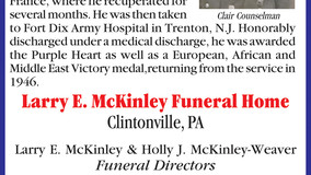 Larry McKinley F.H. - Honoring Clair Counselman - Father, Grandfatehr and WWII Veteran