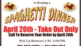 Spaghetti Dinner at the St. Petersburg United Methodist Church - Take Out Only