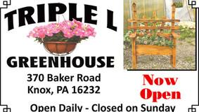 Triple L Greenhouse - Knox - Now Open