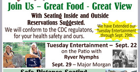 Allegheny Grille - Great Food - Great View - Tuesday Entertainment with the Ryver Nymphs