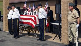 VFW Post 7073 & American Legion Post 598 of Parker Hold Memorial Service