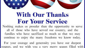 Knox American Legion - With Thanks For Your Service