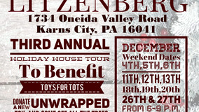 Litzenberg - Holiday House Tour - Benefit Toys for Tots