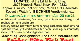 Knox Amish Schools Benefit Auction