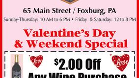 Foxburg Wine Cellars - Valentine's Day and Weekend Special