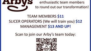 A Fresh New Look - ARBY's of Barkeyville & Seeking New Team Members