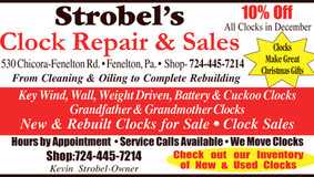 Strobel Clock Repair & Sales