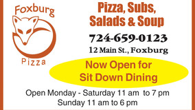 Foxburg Pizza - Now Open for Sit Down Dining