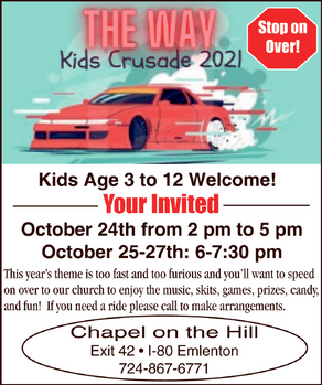 The Way - Kids Crusade 2021 - Chapel on the Hill
