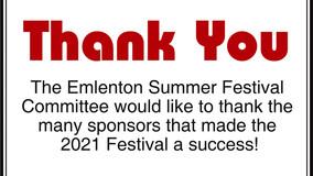 Emlenton Summer Festival Highlight Page Sponsors
