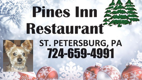Gift Certificates Make Great Gifts - Pines Inn - Pizza Joe - Foxburg Inn Hotel - English Amish Roofs