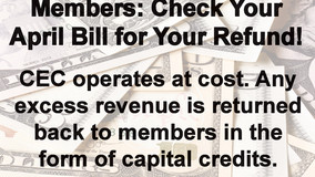 Central Electric - Check Your April Bill for Your Refund