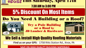 JD Lumber - Open House Sale - Saturday, April 17