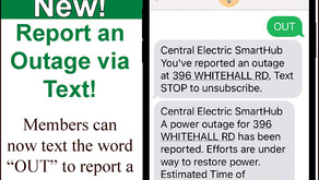 Central Electric - New: Report an Outage via Text