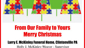 Merry Christmas - McKinley, McEntire-Weaver, & Jamison McKinley Funeral Homes