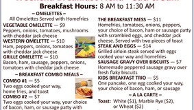 Allegheny Grille - Now Serving Weekend Breakfast 8 AM to 11:30 PM