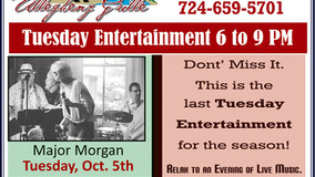 Allegheny Grille - Tuesday Entertainment - Major Morgan - Oct. 5th - Last one for the season!
