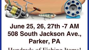 Large Fishing Yard Sale - 508 South Jackson Ave., Parker, PA