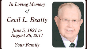 In Memory of Cecil L. Beatty