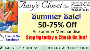 Amy's Closet - 50 to 75% Off Summer Sale