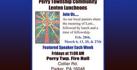 Perry Township - community Lenten Luncheons