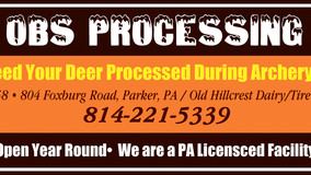 OBS Processing - Need Your Deer Processed During Archery?