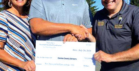 Forsythe's Present $10,000 Check to Clarion County Shriners