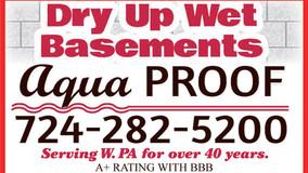 Dry Up Wet Basements - Call Aqua Proof