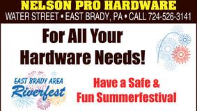 Nelson Pro Hardware - East Brady - Riverfest Sponsor