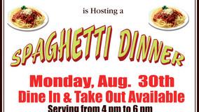 Spaghetti Dinner - St. Petersburg United Methodist Church - August 30th