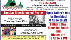 Allegheny Grille - Tuesday Entertainment - Major Morgan - Father's Day Hours
