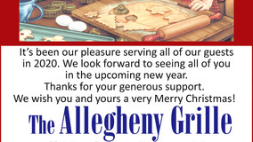 Allegheny Grille - Merry Christmas - Meals to Go - Open Christmas Eve from 11 AM to 2 PM