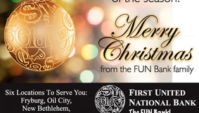 """First United National Bank - """"Merry Christmas from the FUN Bank Family"""""""