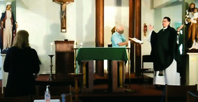 St. Michael's Parish Celebrates First Mass Since the COVID-19 Shut Down