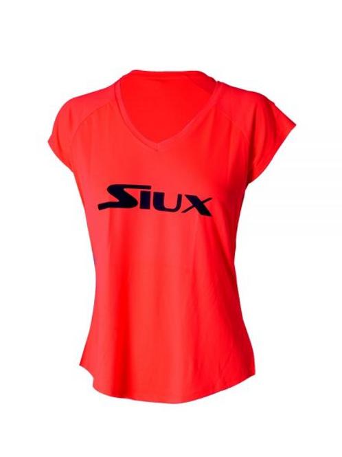 Camiseta Siux Special Coral Mujer Logo Negro