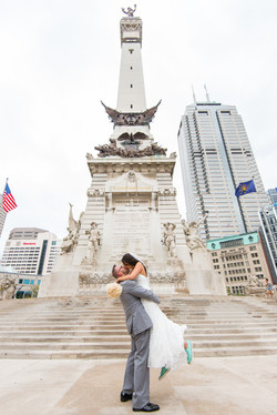 Monument Circle Wedding