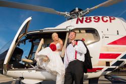 Helicopter Wedding Photo
