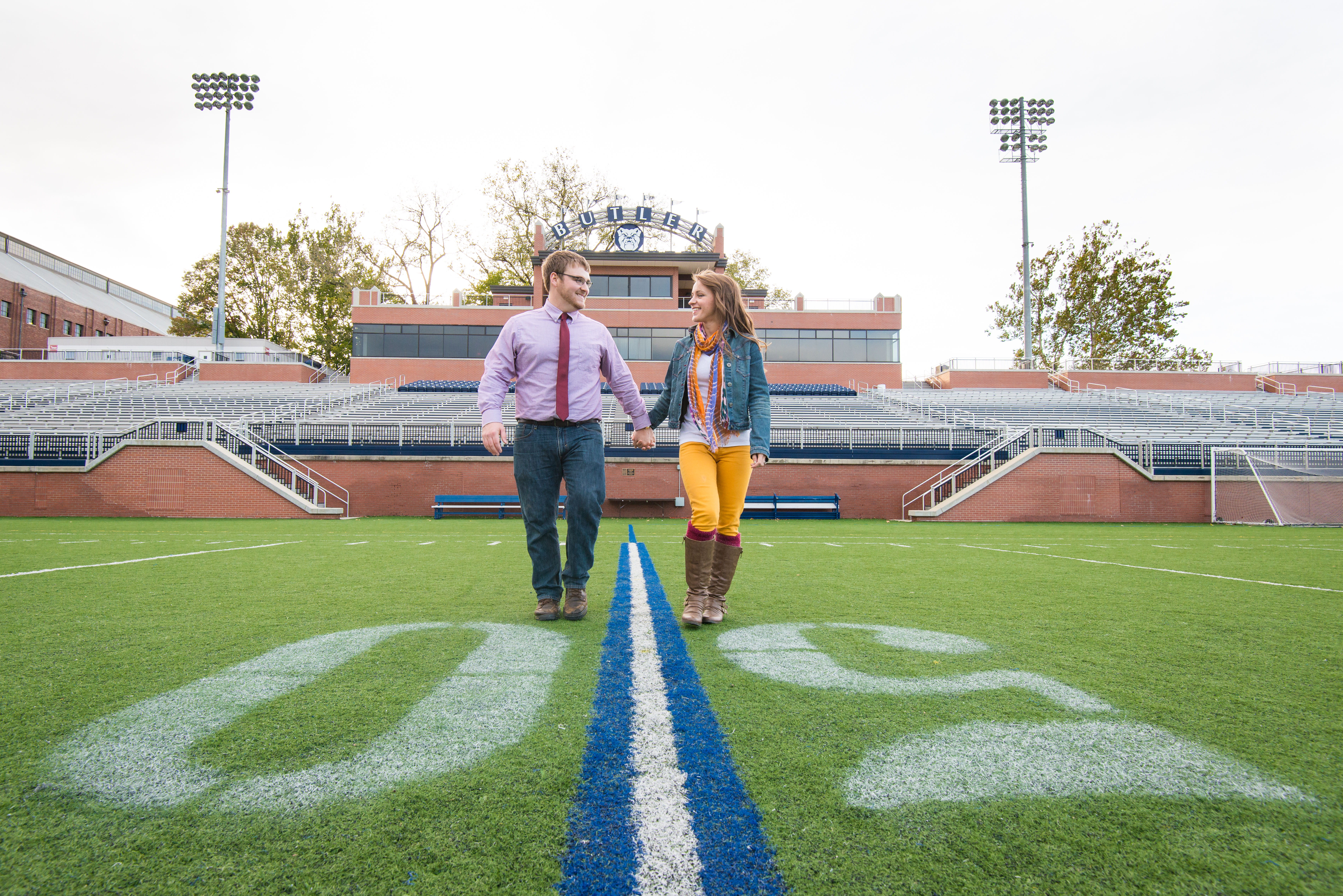 Butler University Engagement Photo