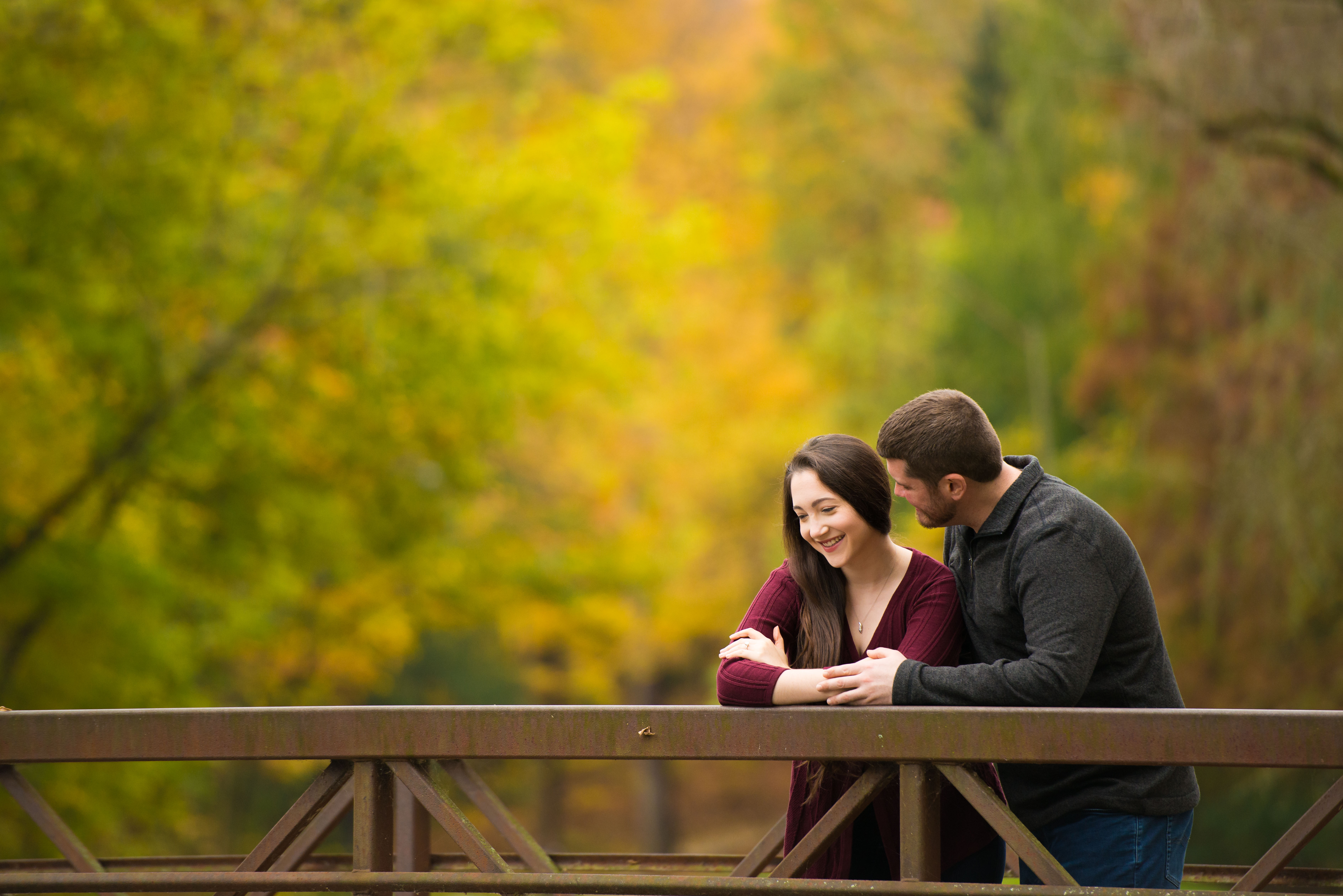 Holcomb Gardens Fall Engagement