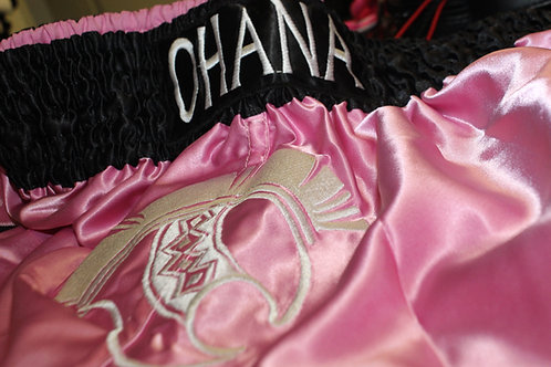 Muay Thai Shorts- Pink & Black