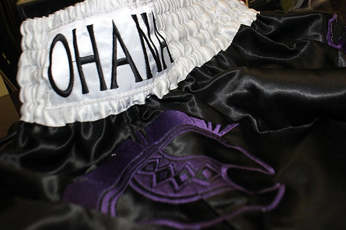 Muay Thai Shorts- Black & Purple