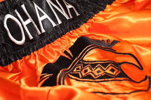 Muay Thai Shorts- Orange & Black