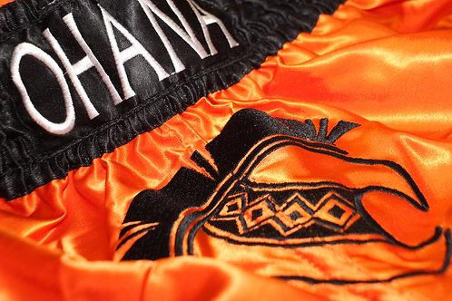 Muay Thai Shorts- Orange & Black